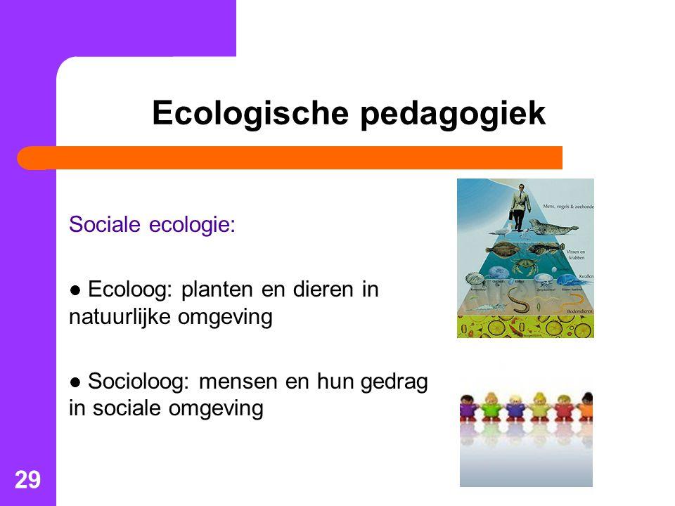 Ecologische pedagogiek