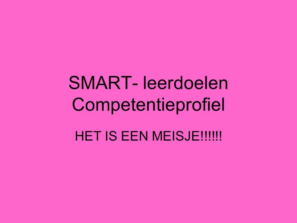 SMART- leerdoelen Competentieprofiel