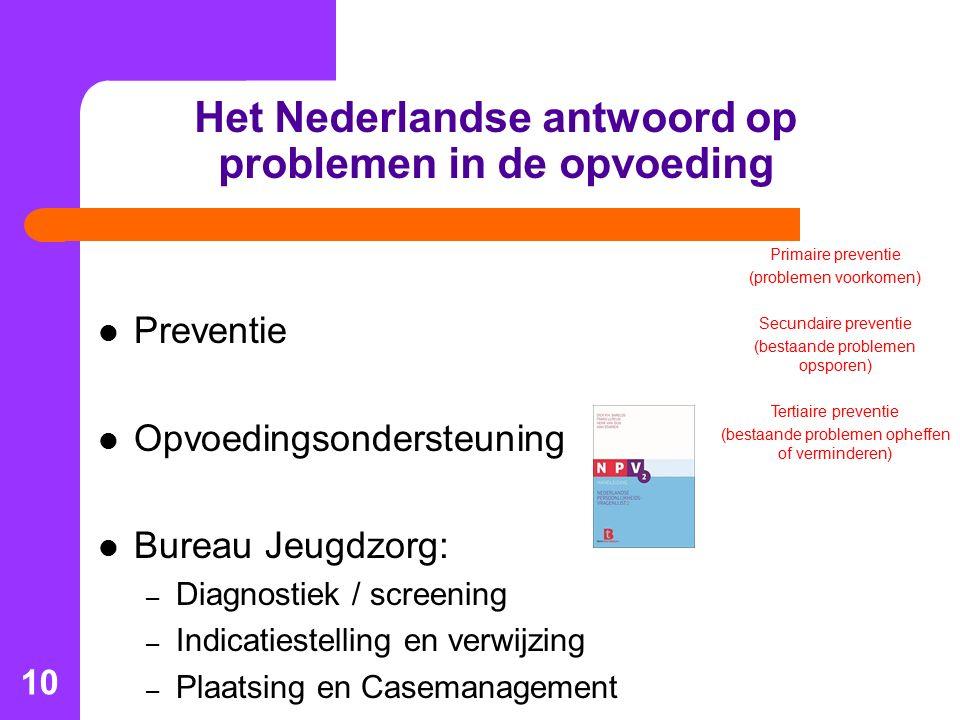 Het Nederlandse antwoord op problemen in de opvoeding