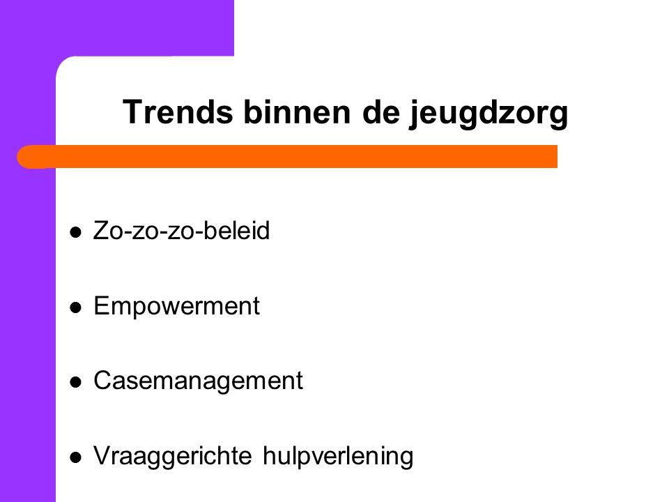 Trends binnen de jeugdzorg