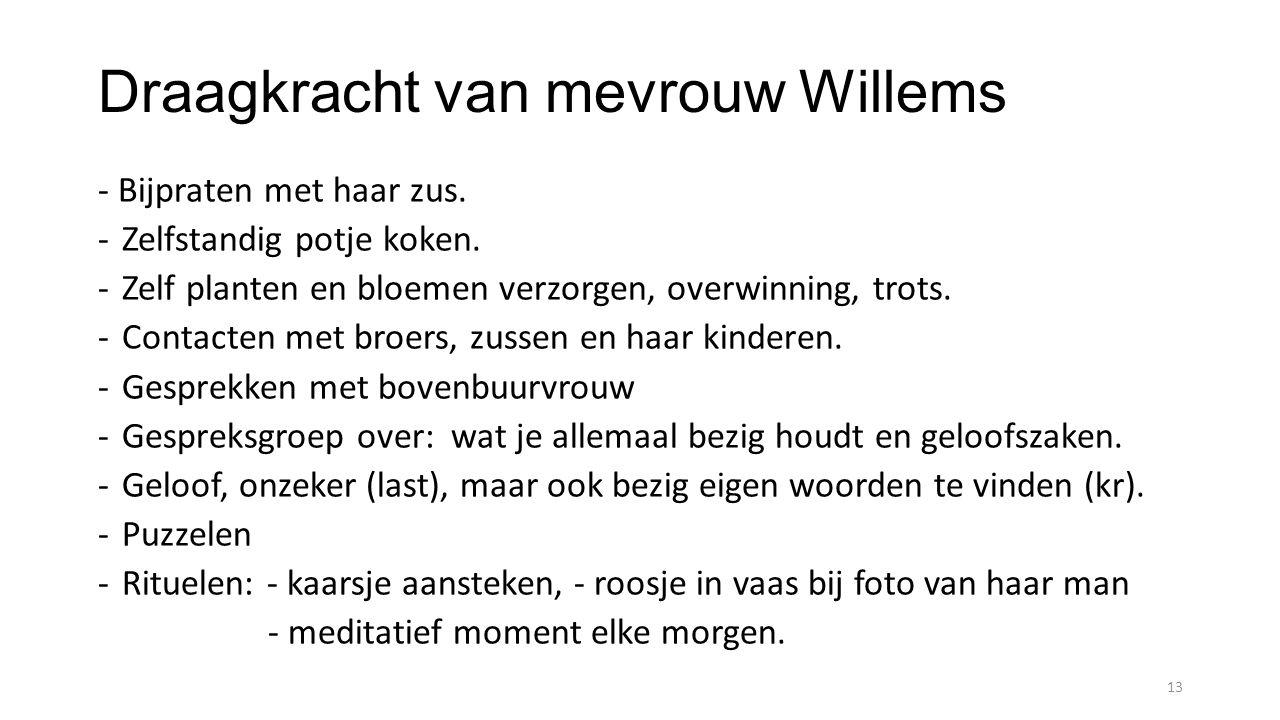 Draagkracht van mevrouw Willems