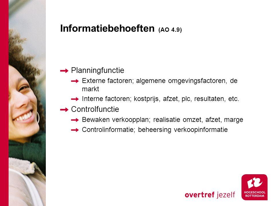 Informatiebehoeften (AO 4.9)