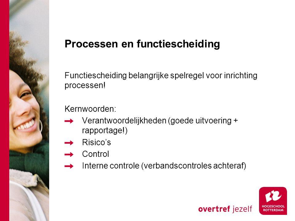 Processen en functiescheiding