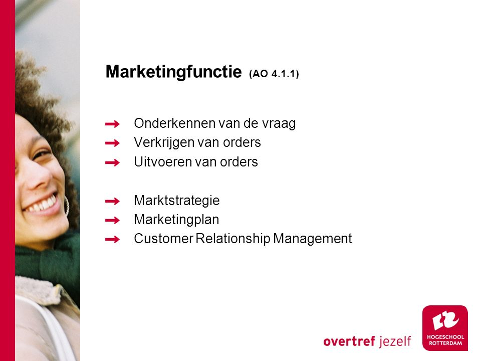 Marketingfunctie (AO 4.1.1)