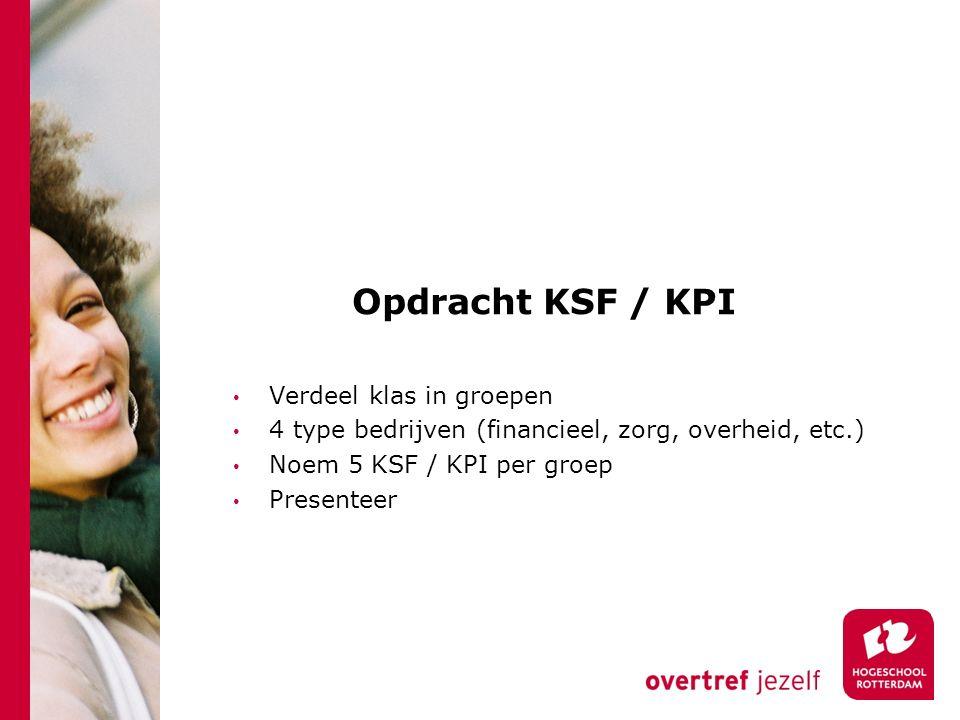 Opdracht KSF / KPI Verdeel klas in groepen