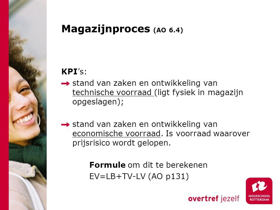 Magazijnproces (AO 6.4) KPI's: