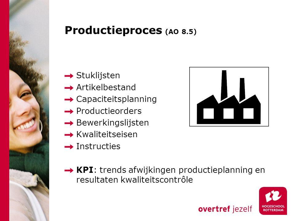 Productieproces (AO 8.5) Stuklijsten Artikelbestand