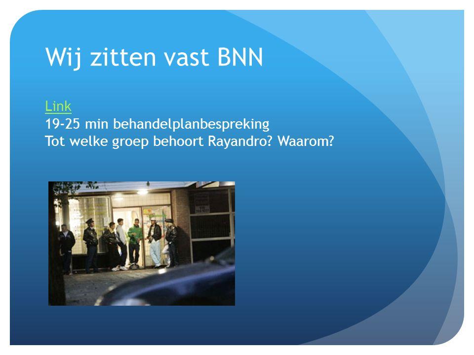 Wij zitten vast BNN Link 19-25 min behandelplanbespreking Tot welke groep behoort Rayandro.