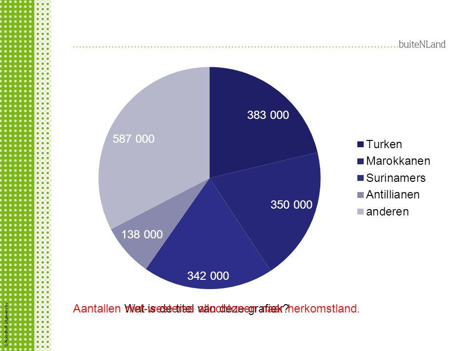 Aantallen niet-westerse allochtonen naar herkomstland.