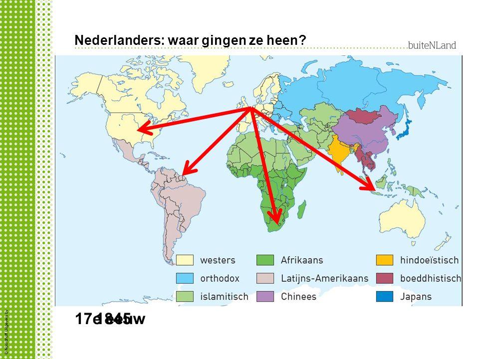 Nederlanders: waar gingen ze heen