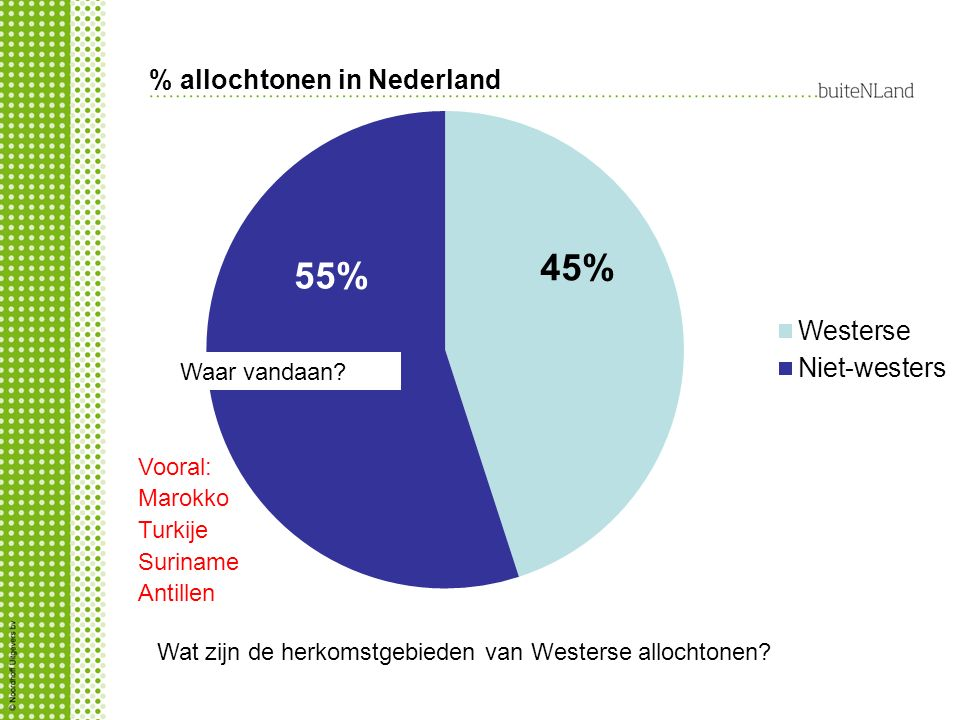 % allochtonen in Nederland