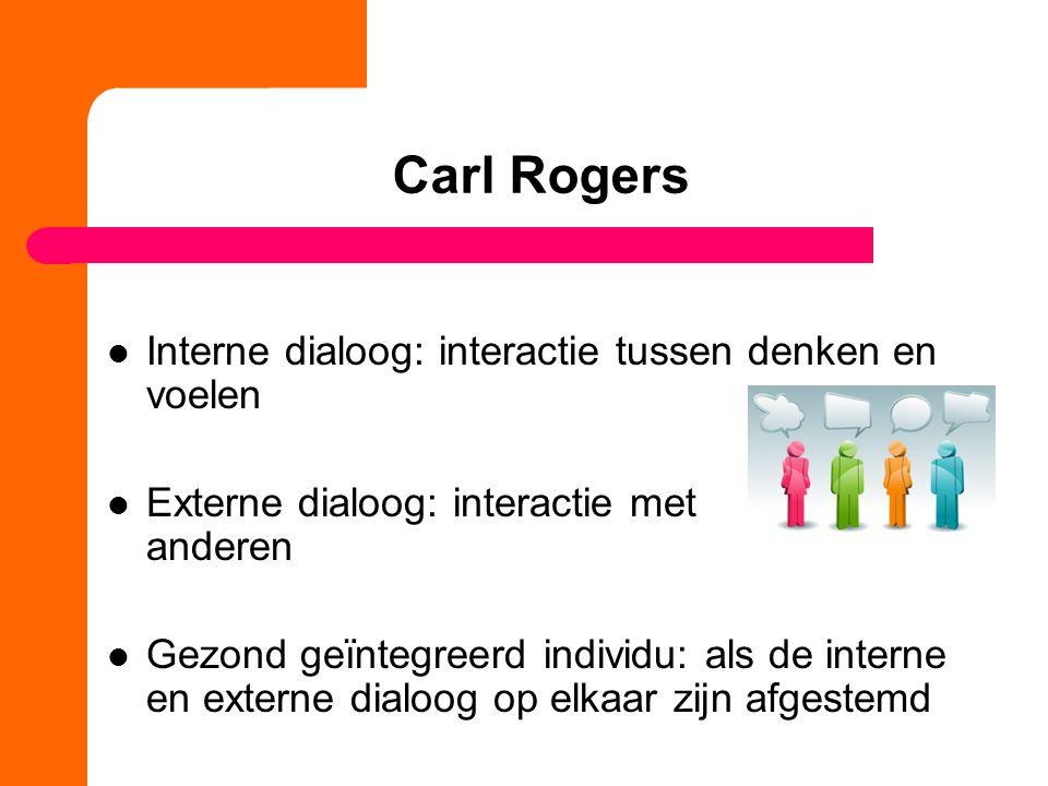 Carl Rogers Interne dialoog: interactie tussen denken en voelen