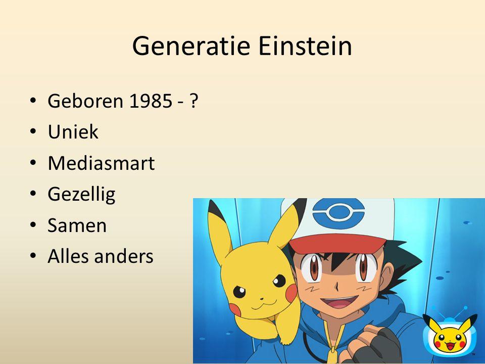 Generatie Einstein Geboren 1985 - Uniek Mediasmart Gezellig Samen
