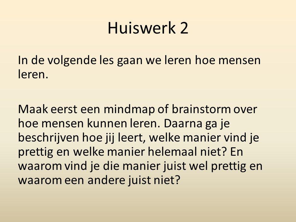 Huiswerk 2