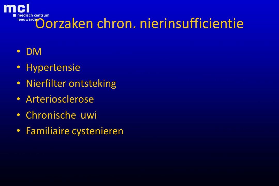 Oorzaken chron. nierinsufficientie