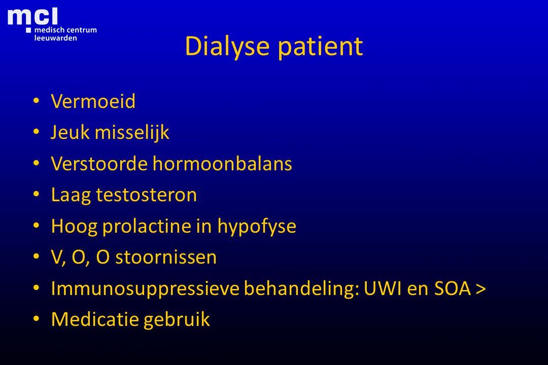 Dialyse patient Vermoeid Jeuk misselijk Verstoorde hormoonbalans