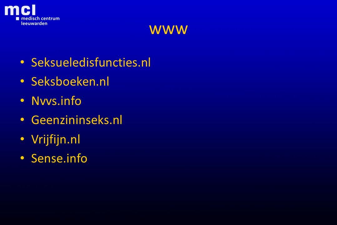 www Seksueledisfuncties.nl Seksboeken.nl Nvvs.info Geenzininseks.nl