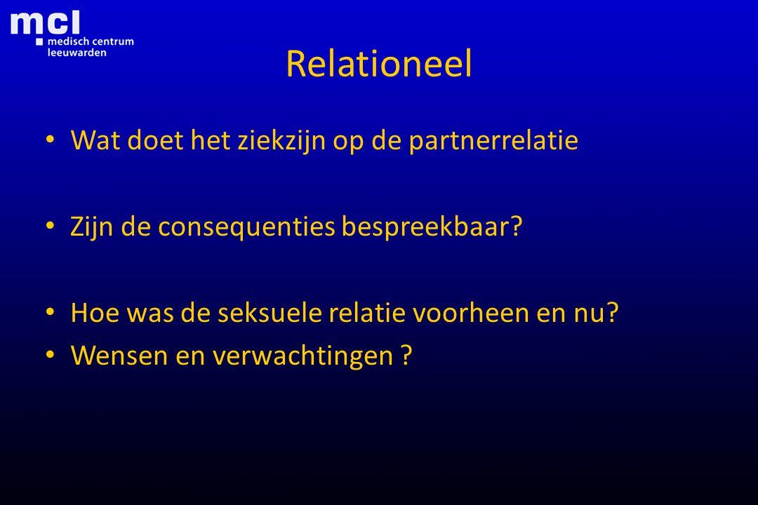 Relationeel Wat doet het ziekzijn op de partnerrelatie