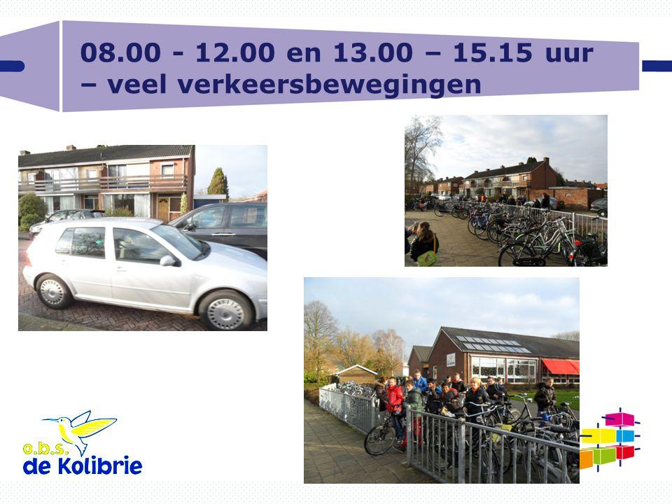 08.00 - 12.00 en 13.00 – 15.15 uur – veel verkeersbewegingen