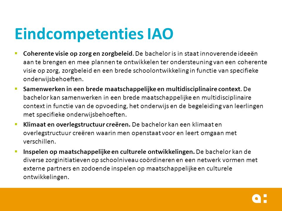 Eindcompetenties IAO