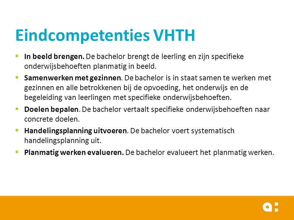Eindcompetenties VHTH