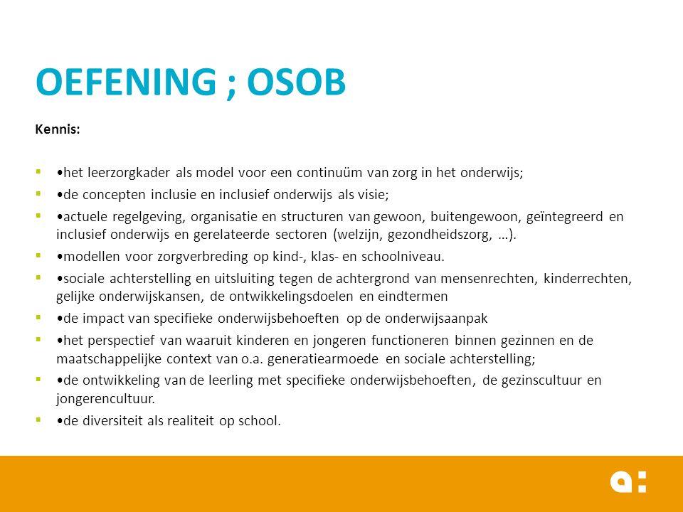 OEFENING ; OSOB Kennis: