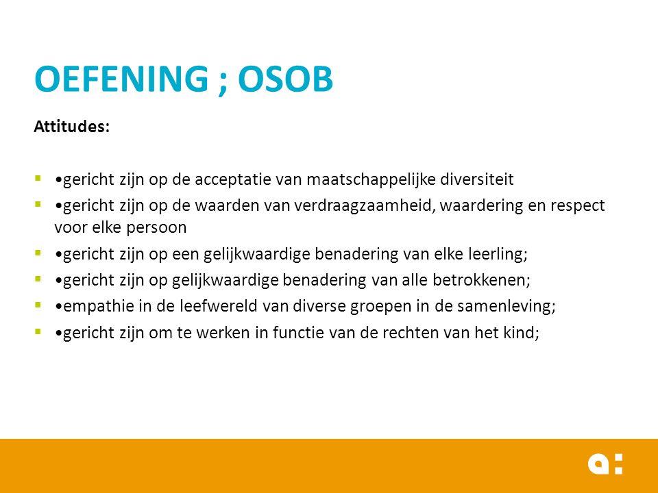 OEFENING ; OSOB Attitudes: