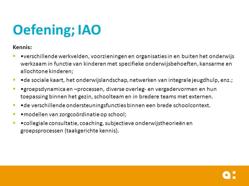Oefening; IAO Kennis: