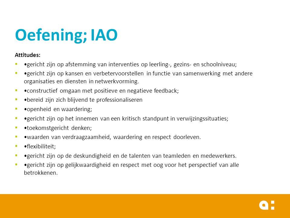 Oefening; IAO Attitudes: