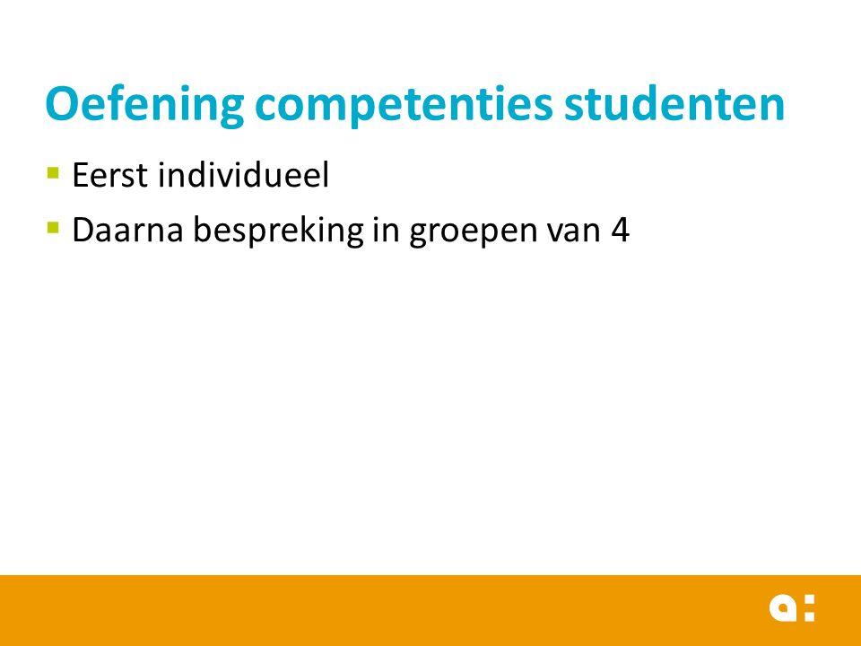 Oefening competenties studenten