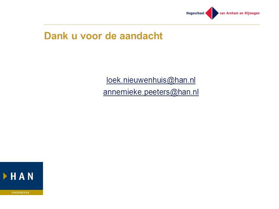 loek.nieuwenhuis@han.nl annemieke.peeters@han.nl