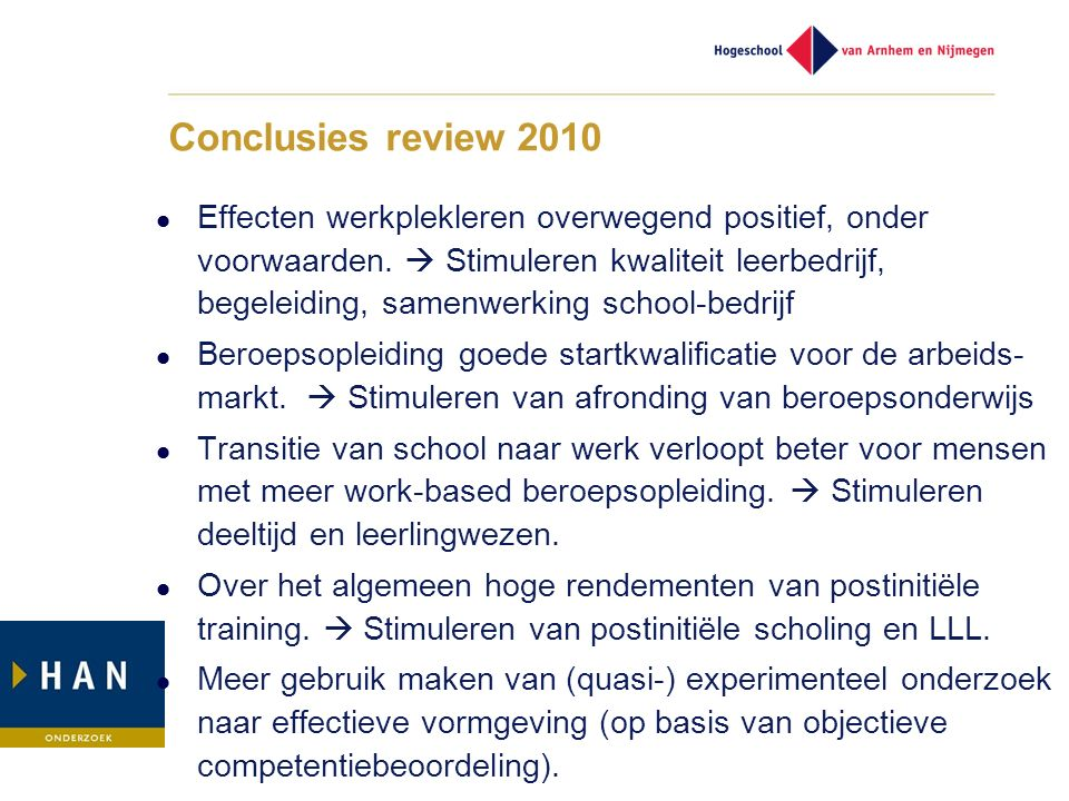 Conclusies review 2010