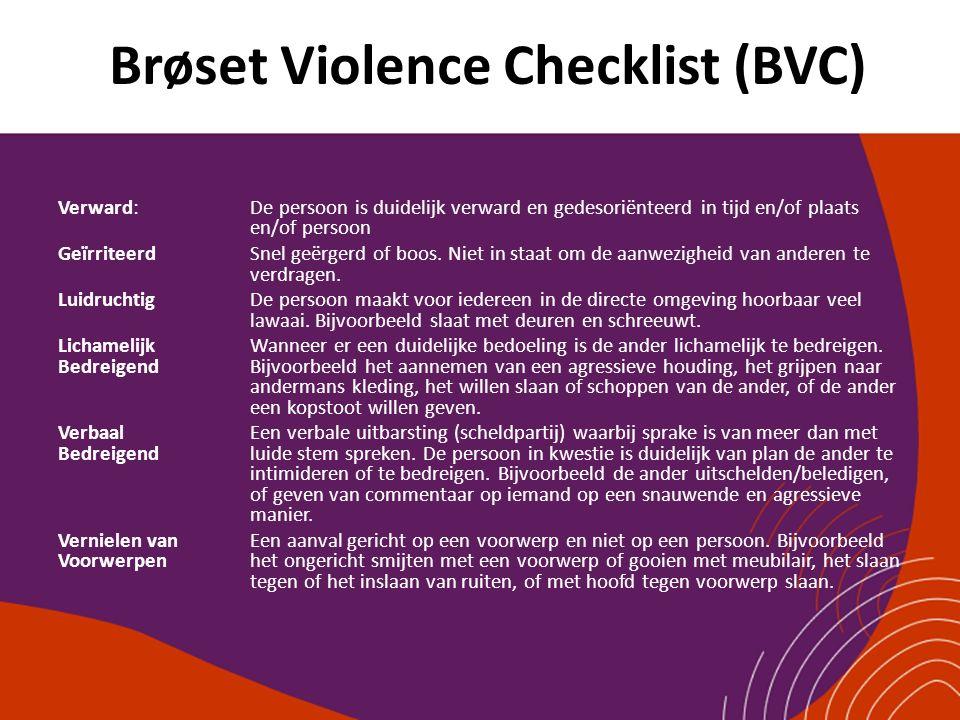 Brøset Violence Checklist (BVC)