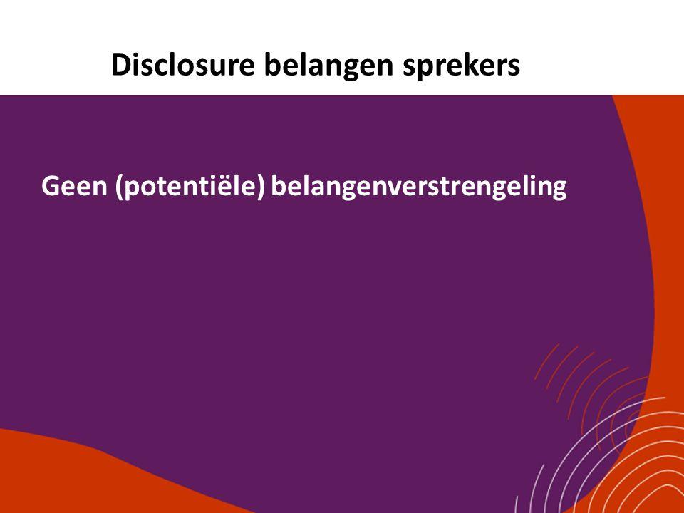 Disclosure belangen sprekers