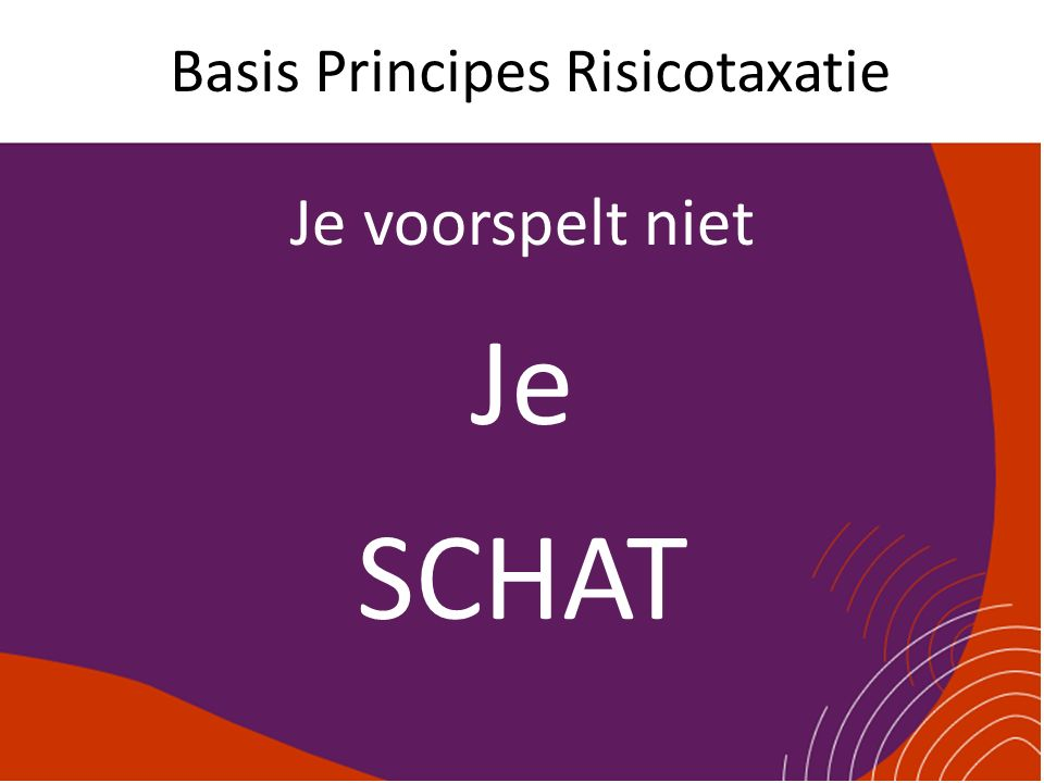 Basis Principes Risicotaxatie