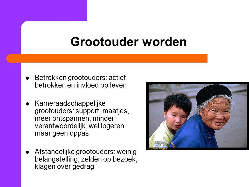 Grootouder worden Betrokken grootouders: actief betrokken en invloed op leven.
