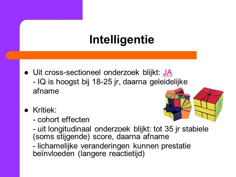 Intelligentie Uit cross-sectioneel onderzoek blijkt: JA