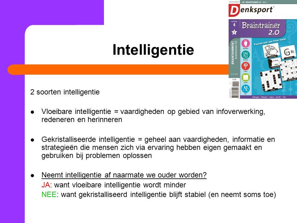 Intelligentie 2 soorten intelligentie