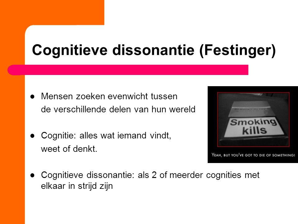 Cognitieve dissonantie (Festinger)
