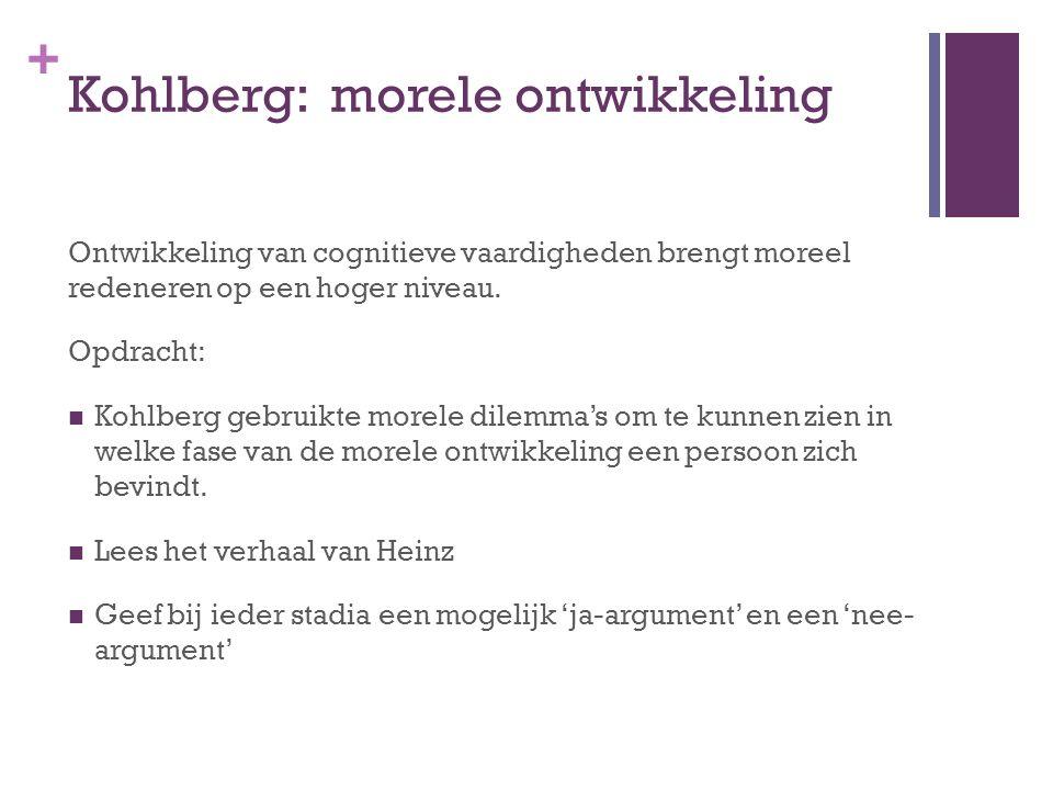Kohlberg: morele ontwikkeling