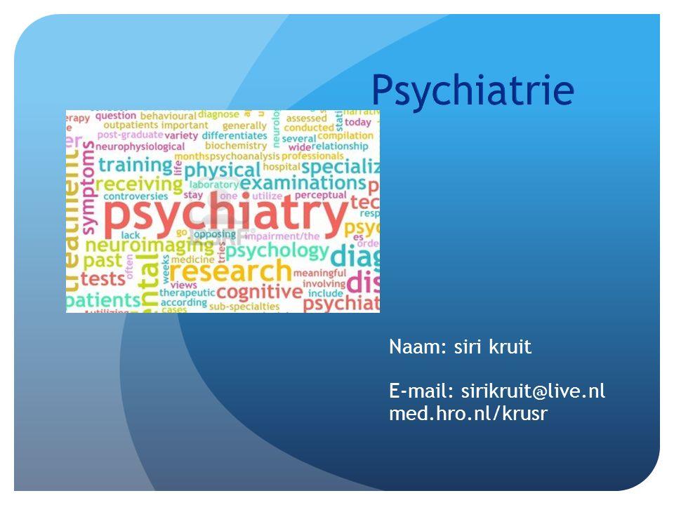 Naam: siri kruit E-mail: sirikruit@live.nl med.hro.nl/krusr