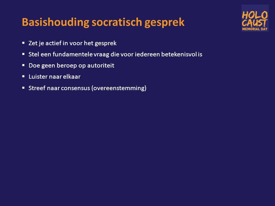 Basishouding socratisch gesprek