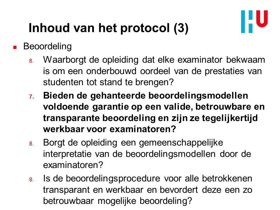 Inhoud van het protocol (3)