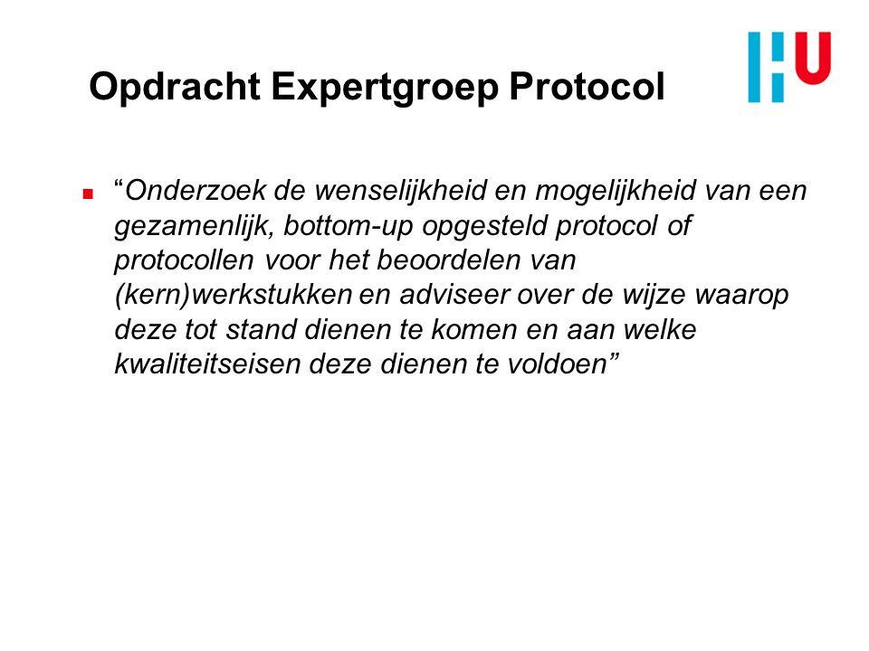 Opdracht Expertgroep Protocol