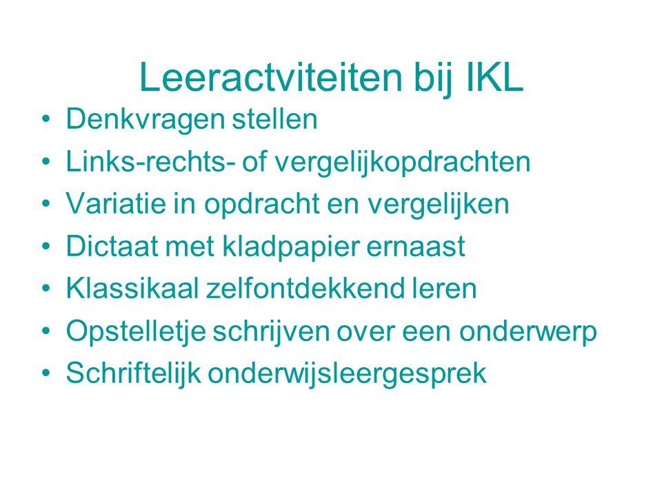 Leeractviteiten bij IKL