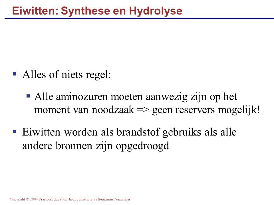 Eiwitten: Synthese en Hydrolyse