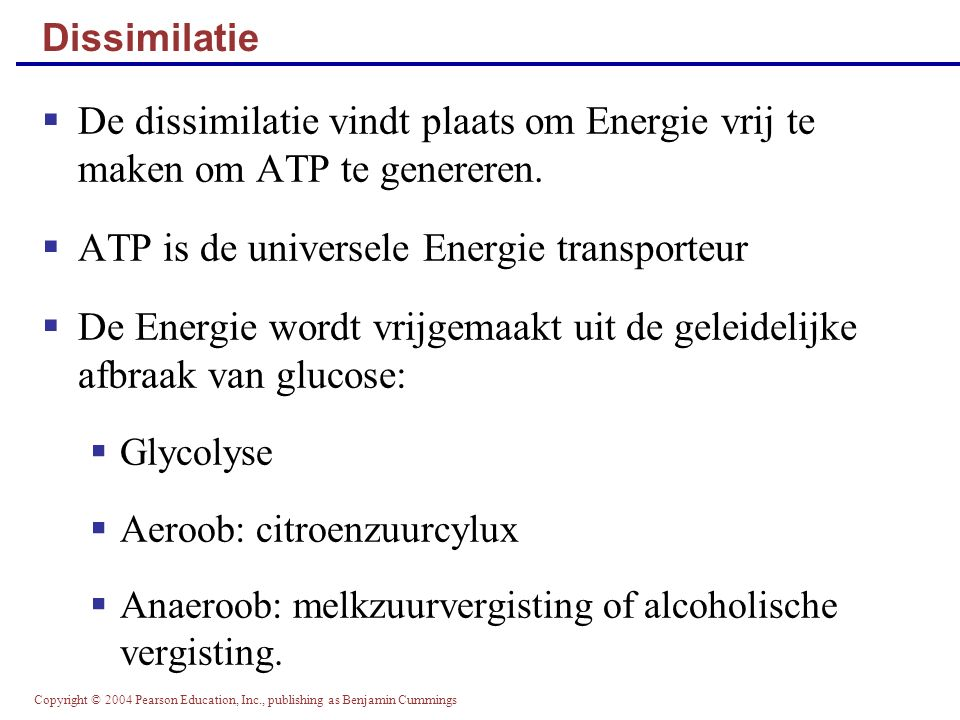 ATP is de universele Energie transporteur