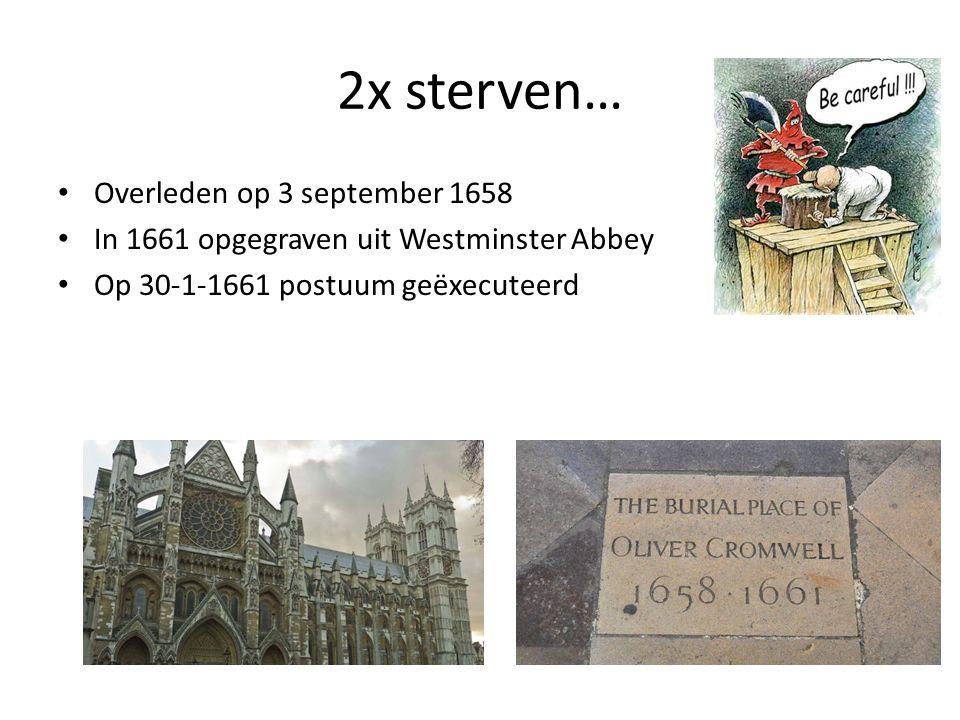 2x sterven… Overleden op 3 september 1658