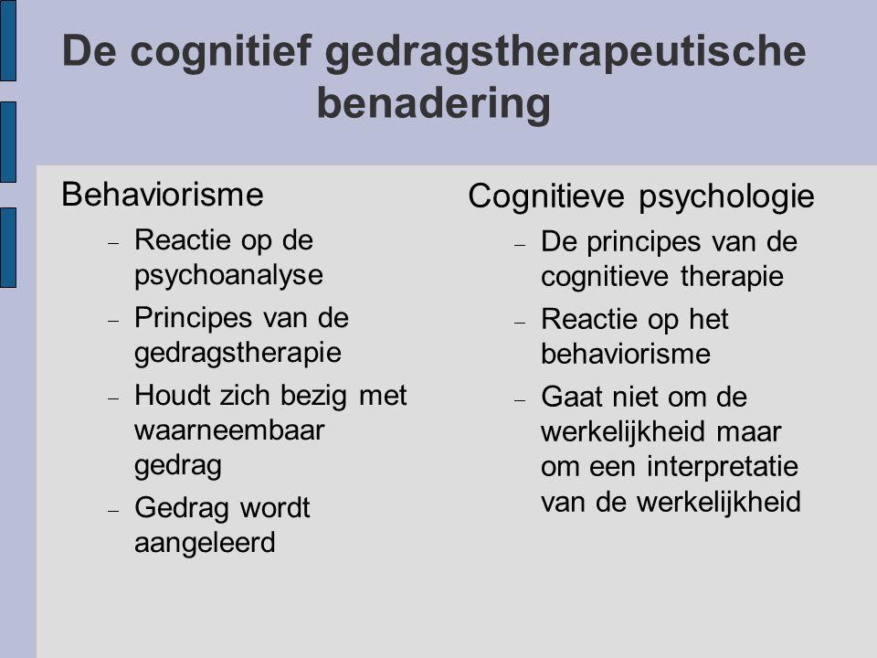 De cognitief gedragstherapeutische benadering