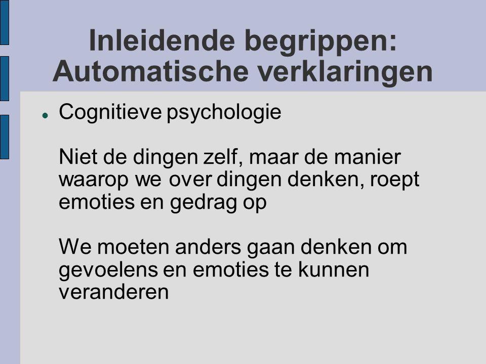 Inleidende begrippen: Automatische verklaringen
